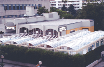 Transparent Polycarbonate Dome Waterproofing in Dusseldorf, Germany