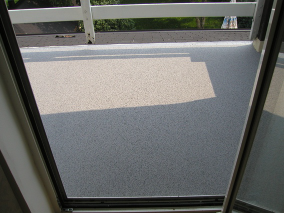 Sandcarpet Balcony Waterproofing at a private residence in Slovenia