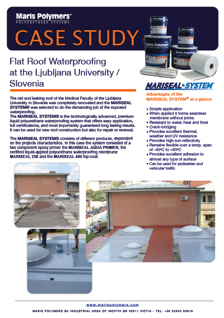 Flat Roof Waterproofing at the Ljubljana University in Slovenia