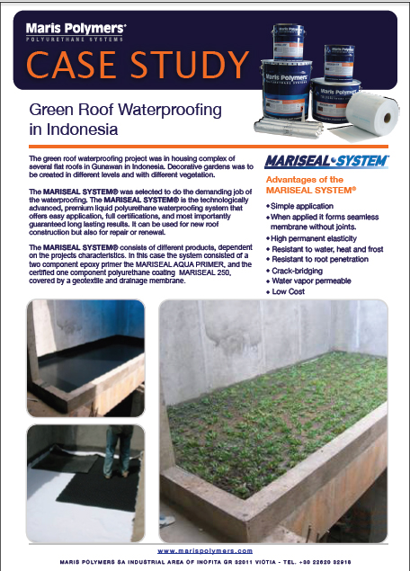 Green Roof Waterproofing Complex of Flat Roofs in Gunawan Indonesia