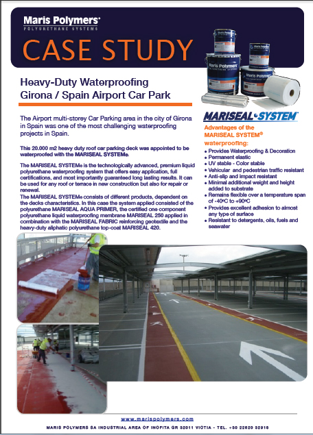 Heavy-Duty Waterproofing Airport Car Park in Girona Spain