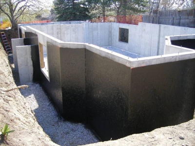 Foundations retaining walls waterproofing maris for How to build a basement foundation