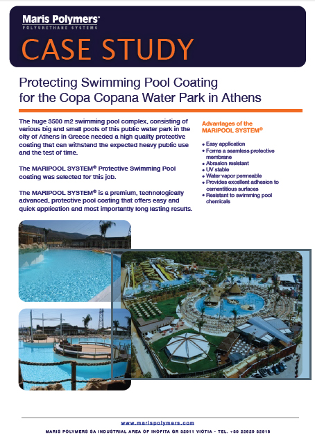 Protecting Swimming Pool Coating For The Copa Copana Water