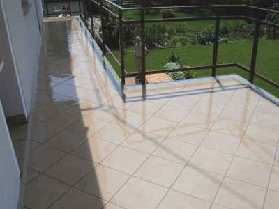 Clear waterproofing coating for balconies terraces for Terrace waterproofing
