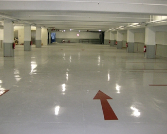 Internal Car-Parking Floor Coating of Super Market in Istanbul Turkey