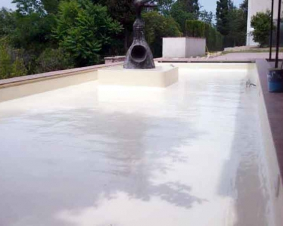 Waterproofing of a Joan Miro fountain