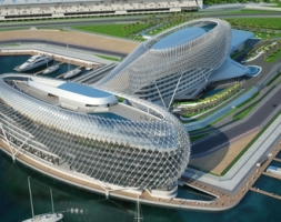 Terrace Waterproofing in the Yas Marina Hotel at the F1 Cirquit in Abu Dhabi