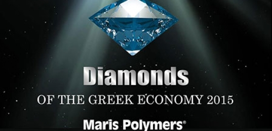 """HONORARY DISTINCTION OF MARIS POLYMERS IN """"DIAMONDS OF THE GREEK ECONOMY 2015″"""